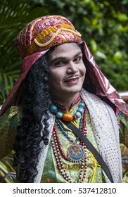 Portrait of Impressionist or Behrupiya, Traditional performing artist of India.