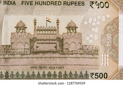 Portrait from India 500 Rupees Banknotes. An Old paper banknote, vintage retro. Famous ancient Banknotes. Collection.