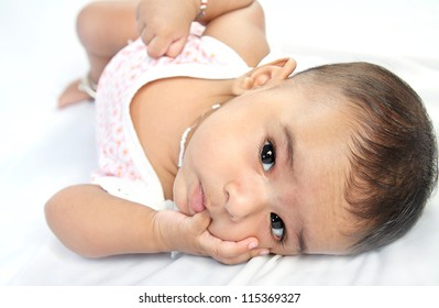 Portrait Of Indian Baby