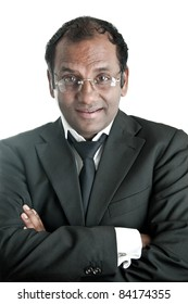 Portrait of a indian business man with glasses