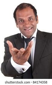 Portrait of a indian mature man in a business dress