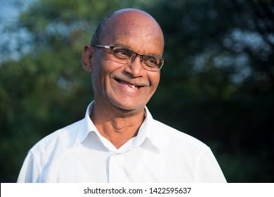 Portrait of Indian senior man.