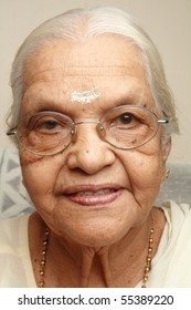 Portrait of an Indian senior woman