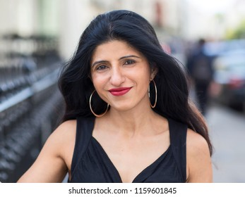 portrait of an indian woman in the street