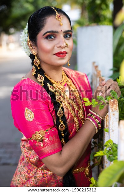 Portrait Indian Women Traditional Bridal Look Stock Photo Edit