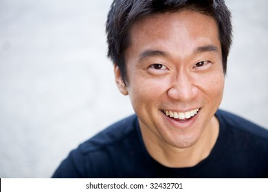 Portrait of an interesting asian man with an honest face