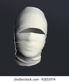 Portrait of The Invisible man on grey background