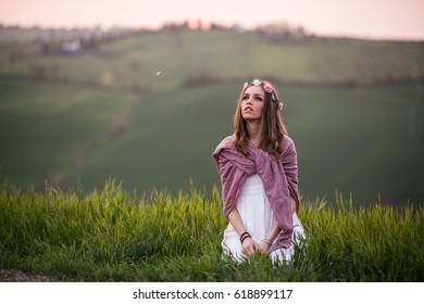 Portrait of an italian girl