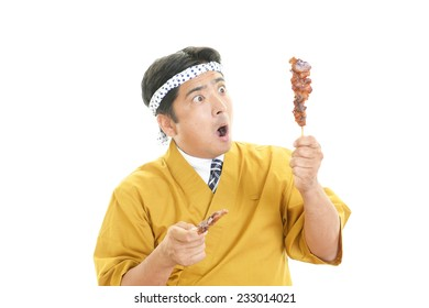 Portrait of a Japanese chef