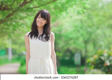 Portrait of Japanese female college student