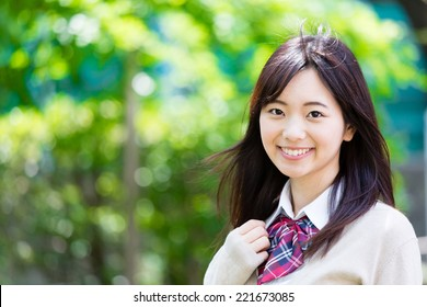 portrait of japanese high school student