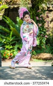 portrait of Japanese traditional little girl