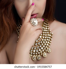 portrait of jewelry and makeup