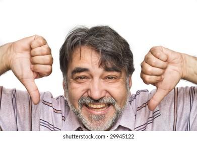 Portrait of the joyful man