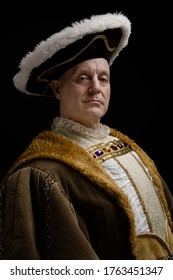 Portrait of King Henry VIII in historical costume