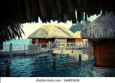 portrait landscape of Bora Bora