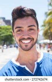 Portrait of a laughing brazilian guy