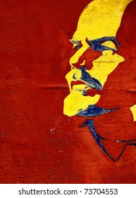Portrait of the leader of world revolution. Vladimir Lenin (Ulyanov)