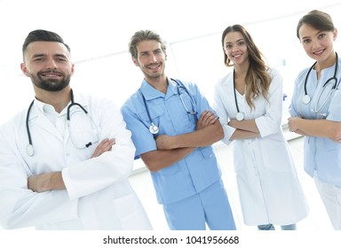 portrait of the leading members of the medical center