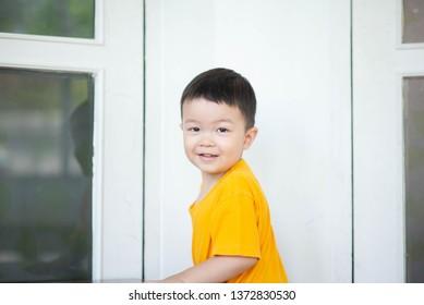 Portrait of Little asian boy smiling