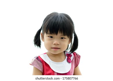 Portrait of the little Asian girl outdoor
