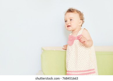 portrait of a little baby emotions