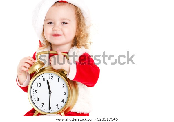 66866b9db Portrait Little Cute Girl Santa Hat Stock Photo (Edit Now) 323519345