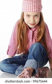 Portrait of little fashion girl