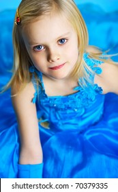 The portrait of a little girl.
