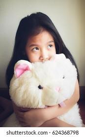 portrait of a little girl, asian girl.