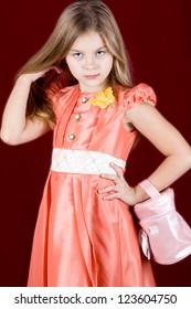 Portrait of a little girl fashionista