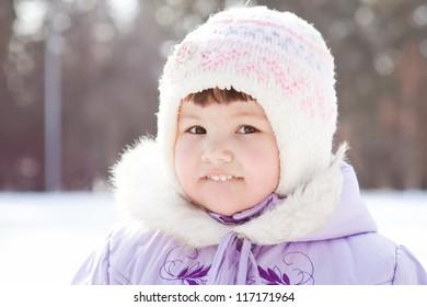 Portrait of  little girl in hat