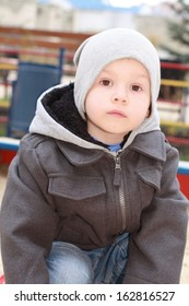 Portrait of the little lovely boy