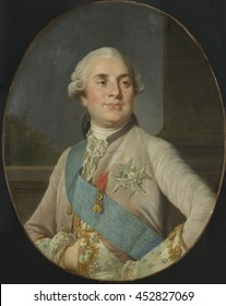 Portrait of Louis XVI, King of France, by Joseph Siffrede Duplessis, c. 1777-89, Dutch painting, oil on canvas. Several versions of this 1777 portrait were produced by Duplessis, for placement in gov