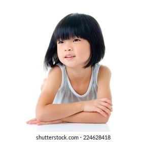 Portrait of lovely asian child