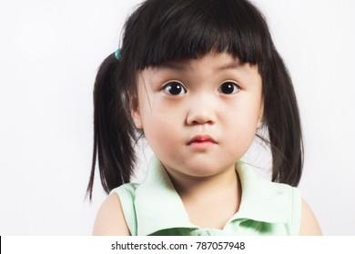 Portrait a lovely asian little girl.