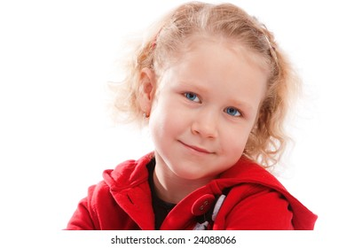 Portrait of a lovely blond preschooler