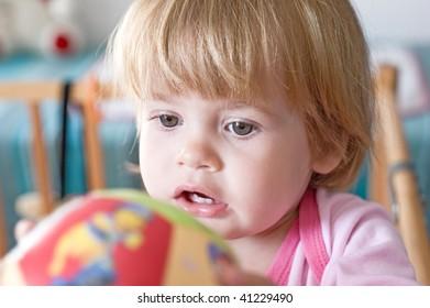 portrait of lovely little girl