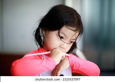 Portrait of lovely little girl - soft selective focus