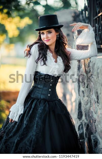 Fantasy Art Gothic Girl Long Black Hair