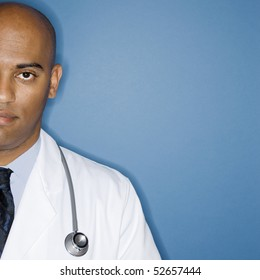 Portrait of male African American doctor.
