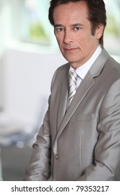 Portrait of male executive