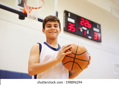 Portrait Of Male High School Basketball Player