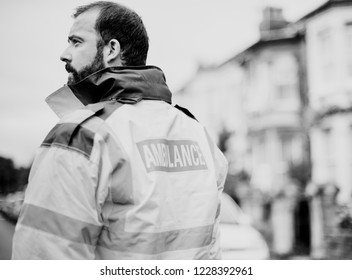 Portrait of a male paramedic in uniform