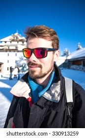 Portrait of a male skier