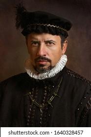 Portrait of man in 16th century costume.