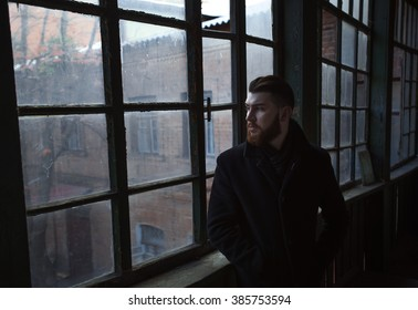 Portrait of a man with a beard. Ukraine Sumy