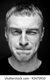 Portrait of a Man. Close up. Selective focus.