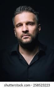 Portrait of a man, closeup