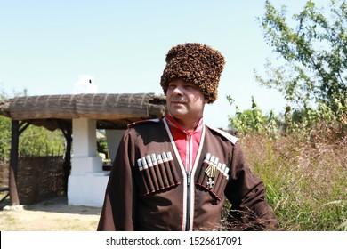 Portrait of man in a Cossack costume